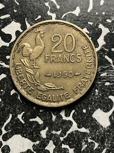 1950-France-20-Francs-6-Available-Circulated-1-Coin-Only-KM-916-1