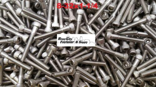 10 8-32x1-1//4 Socket Allen Head Cap Screw Stainless Steel #8 x 1-1//4