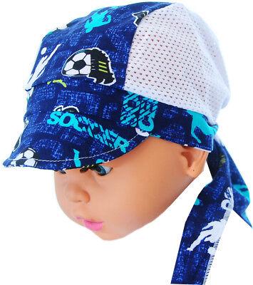 Kopftuch 45-52 Baby Kinder Sommer Mütze Mützchen Kopfbedeckung Bandana