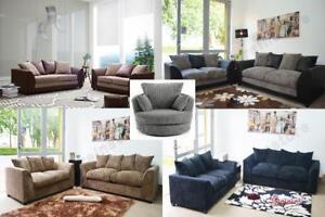 Prime Details About Sale Byron Dilon Fabric Sofa Suite Set Couch Swivel Cuddle Chair L Shape Corner Cjindustries Chair Design For Home Cjindustriesco