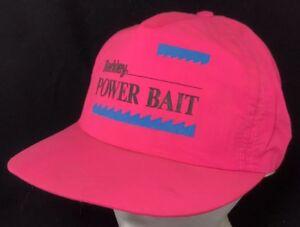 f28dbd500f3377 Vtg 80s Hat Snapback Cap Berkley PowerBait Fishing Lure Hook Scent ...