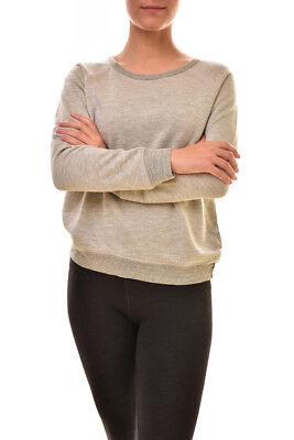 Sundry Women/'s Aloha Long Sleeve Pullover Grey US1
