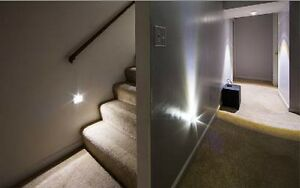 1 stair lighting auto silver 6 led light automatic motion. Black Bedroom Furniture Sets. Home Design Ideas