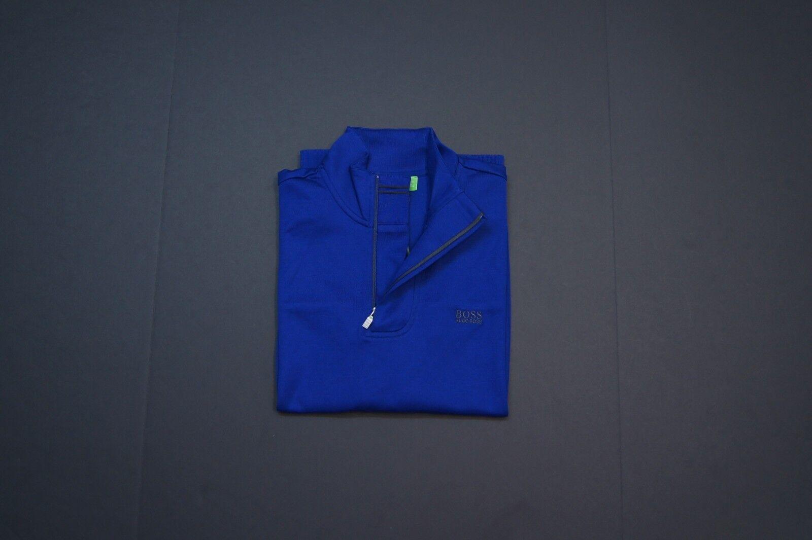 BOSS Grün by HUGO BOSS 'Sweat' 1/4 Zip Sweatshirts Royal Blau NEW NWT