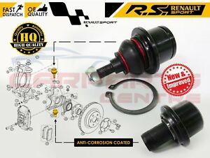 FOR-RENAULT-CLIO-197-200-MEGANE-MK3-RS-SPORT-TOP-AND-BOTTOM-HUB-BALL-JOINT-PIVOT