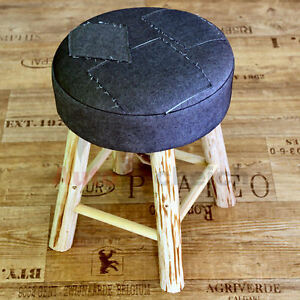 Pleasing Details About Sitting Stool Seat Jeans Stool Ottoman Wooden Stool Footrest Coat Stools Shoes Machost Co Dining Chair Design Ideas Machostcouk