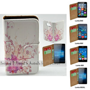 For-Nokia-Series-Purple-Orchid-Theme-Print-Wallet-Mobile-Phone-Case-Cover