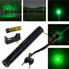 10 Miles 532nm 5mw 303 Green Laser Pointer Laser Pen Beam Light +18650+Charger