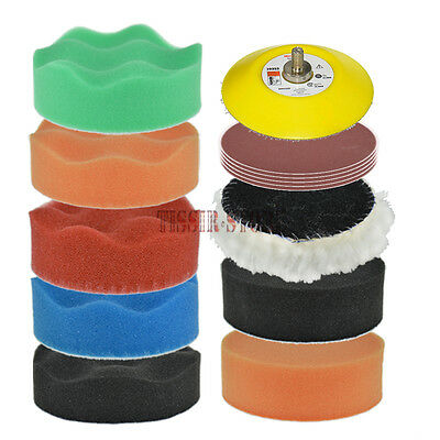 19x3Inch Polishing/Buffing Woolen Buffer Pad Sanding Paper For Car Polisher M6x1