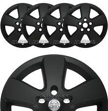 "4 Flat Black 09-2012 Dodge Ram 1500 20"" Wheel Skins Hub Caps 5 Spoke Rim Covers"