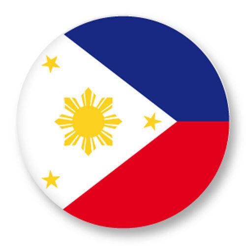Magnet Aimant Frigo Ø38mm Drapeau Flag Maillot Echarpe Philippines ph