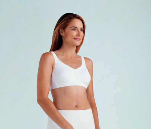 Cup Bra White wired Amoena Pocketed Non Mastectomy Soft By 'mona' n8wfwUzxq5
