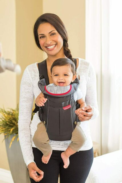 Bib Black Infantino Swift Carrier 2 Positions Baby Pouch Compact Toddler Sling