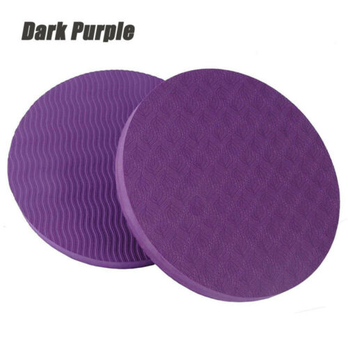2Pcs Fitness Equipment Round Knee Pad Yoga Mat Non Slip Disc Protective Cushion
