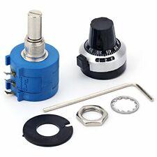 Jansane 10 Turn Potentiometer 5k Ohm 2w Wirewound Multiturn Adjustable Precis