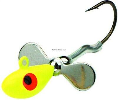 NEW 2//Cd Orange Northland WH3-8 Whistler Jig w//Propeller Blade 1//8 Oz