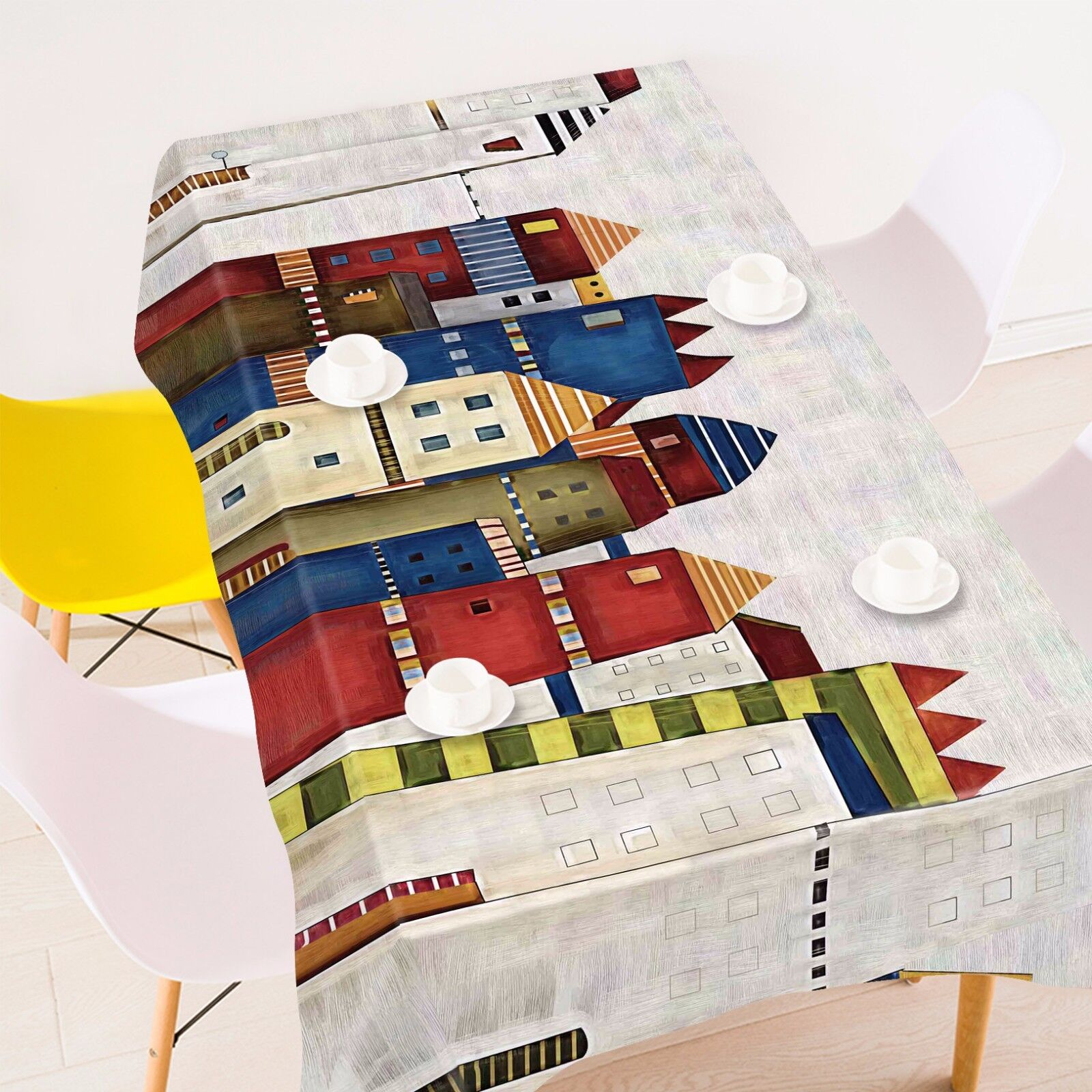 3D House 8932 Tablecloth Table Cover Cloth Birthday Party Event AJ WALLPAPER UK