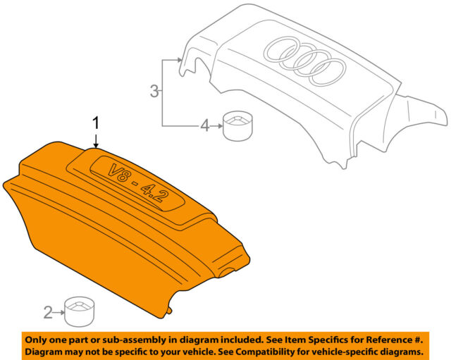 audi 4 2 engine diagram front simple wiringsaudi oem 04 06 a8 quattro engine  appearance cover