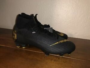 Nike Mercurial Superfly 6 Elite FG Soccer Cleats Black Gold AH7365-077 Size 5.5