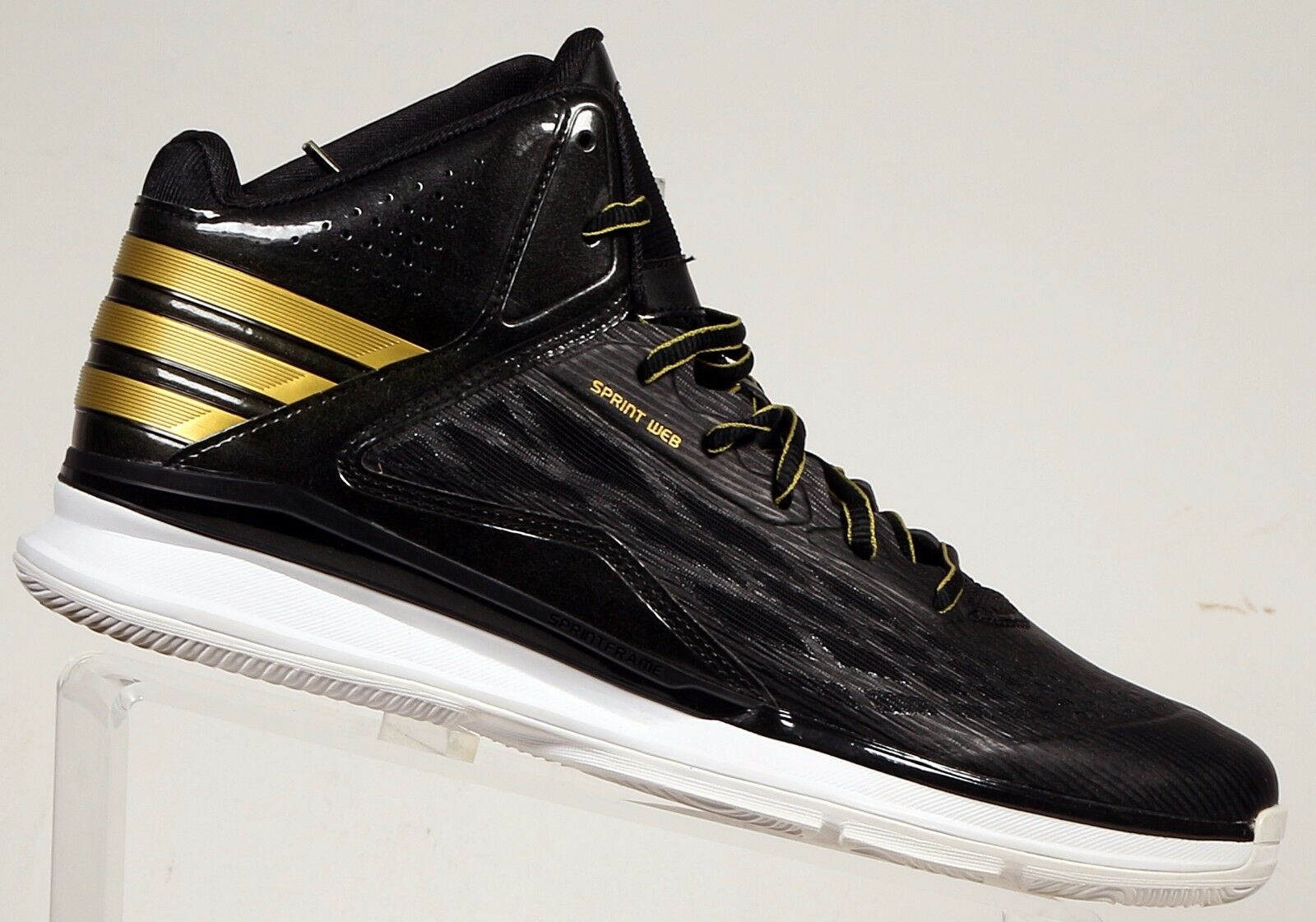 ADIDAS PERFORMANCE Men's Transcend Basketball Shoe Black gold Black TRAINING