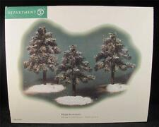 Dept 56 Village Accessories Frosted Spruce - Small Set of 3 #53085