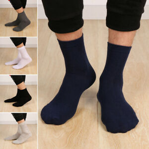 Winter-Sport-Soft-Breathable-Business-Elastic-Medium-Sock-Men-039-s-Cotton-Socks