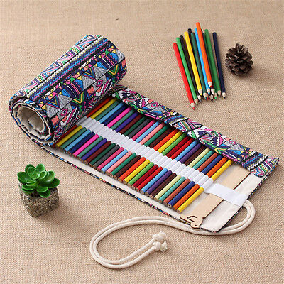 Ethnic Style Pencil Case Rolling Curtain Model Pen Large Capacity Pencil Bag