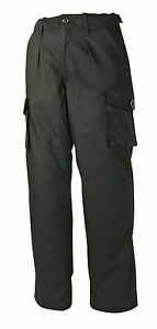 Security-Ripstop-Police-Combat-Black-Trousers-Size-34-034