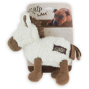 All-For-Paws-LAMB-CUDDLE-PLUSH-ANIMAL-Squeaker-Dog-Toy-STYLE-VARIES