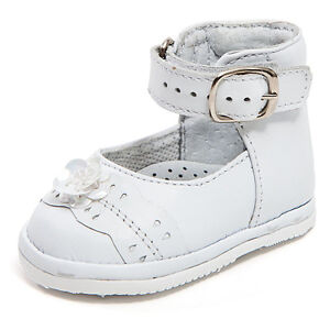 baby white leather high top shoes with hook loop