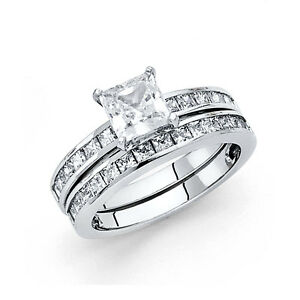 Image Is Loading 1 5 Ct Diamond Square Princess Cut Engagement