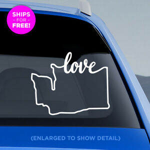 Washington-State-034-Love-034-Decal-WA-Love-Car-Vinyl-Sticker-add-heart-over-a-city