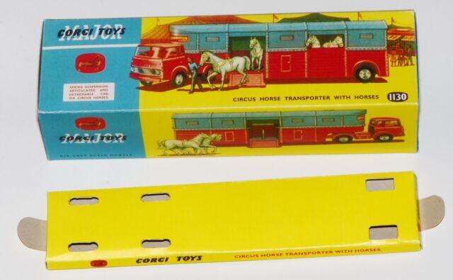Reprobox Corgi Toys Nr. 1130 - Circus Horse Transporter mit Innendisplay