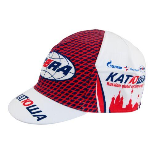 Katusha Red Cycling Cap Russian Gazprom Itera Santini SMS Original Team classic
