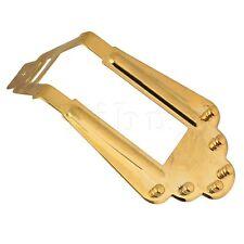 Yibuy 6 String Jazz Guitar bridge Golden