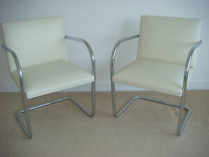 Image Is Loading 2 Authentic New Knoll Brno Chairs Tubular By