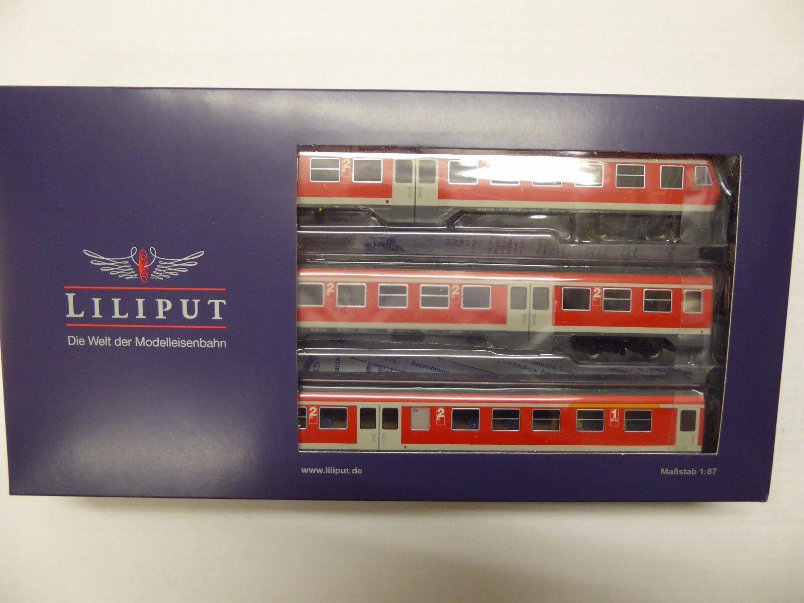 Liliput l133154 dieseltriebzug serie 614 914 3 piezas DB AG mercancía nueva