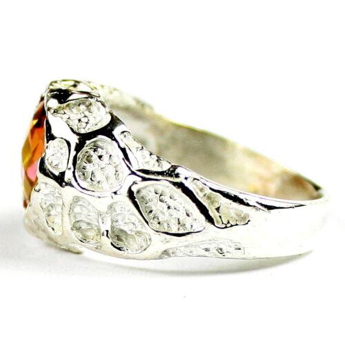 Twilight Fire Topaz SR168-Handmade Solid 925 Sterling Silver Men/'s Ring