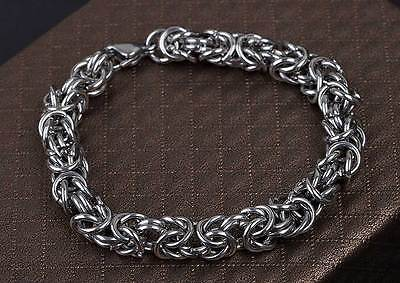 Unisex Basic Byzantine Chainmaille Bracelet 316L Stainless Steel  5919