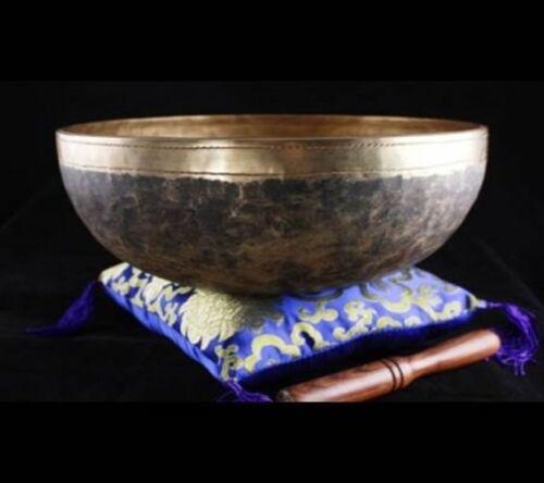 1500 gr Chaken Klangschale ca Nepal handgehämmrt mit Holzklöppel Aktion