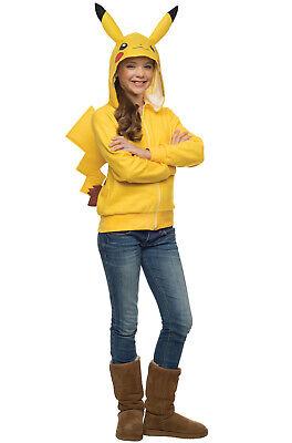 Brand New Pokemon Pikachu Hoodie Girls Child Tween Costume