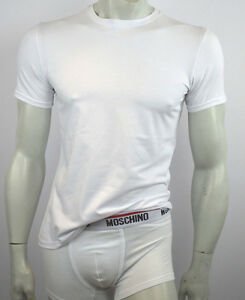 Moschino-Camiseta-Ropa-Interior-para-Hombre-Blanco-Negro-Talla-XS-S-M-L-XL-XXL