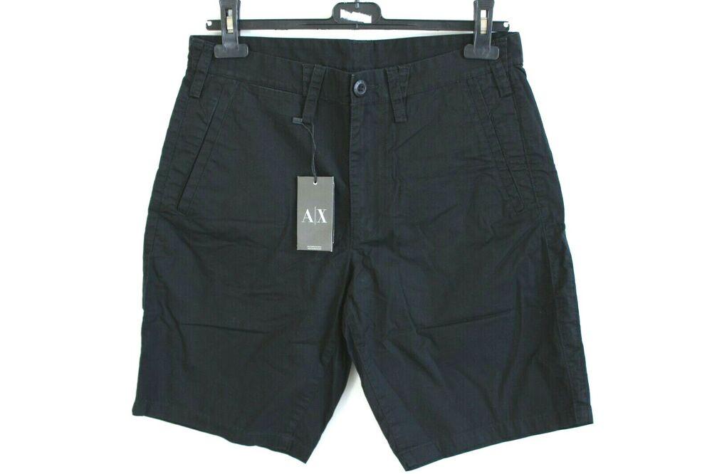 Armani Échange Grise Noir Droit Femme Short Taille W30