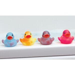 4 changement de couleur caoutchouc canards-enfants jouet de bain bébé canard temps pk 4PK pack changement  </span>
