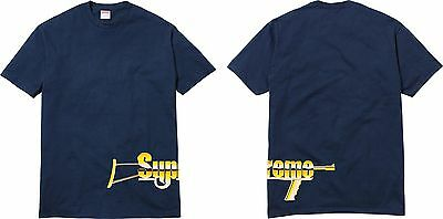 85d31b71fc68 Supreme SS17 Automatic Tee Gun Box Logo T-Shirt MADONNA MONA LISA ROCKS  LIQUID S | eBay