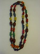 Handmade Small Oak Seed Necklace And Soybeans Combined With Black Beaded... #12