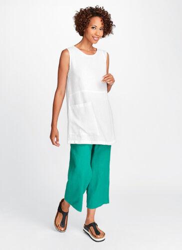 FLAX Designs  Linen Pants S /& M /& L   FLoods  OCEAN  NWT  2018  BOLD