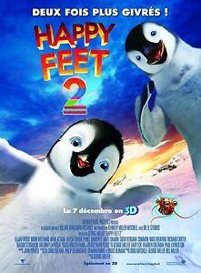 Affiche-40x60cm-HAPPY-FEET-2-HAPPY-FEET-TWO-2011-George-Miller-animation-TBE