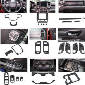 2019 2020 for Dodge Ram 1500 Carbon Fiber Interior Accessories Kit Cover Trims