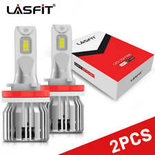 2x LASFIT H11 H9 H8 LED Headlight Bulb Kit Low Beam Fog Light 50W 6000K 5000LM
